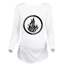 Dauntless symbol Long Sleeve Maternity T-Shirt