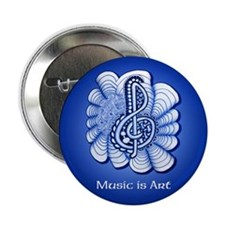 "Customize this Blue Music 2.25"" Button (100 pack)"