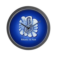 Customize this Blue Music Treble Clef A Wall Clock
