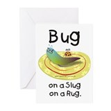 Bug on a Slug on a Rug Greeting Cards (Package of