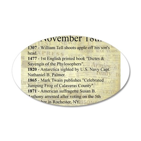 November 18th Wall Decal