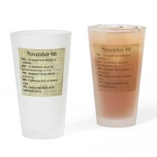 November 4th Drinking Glass
