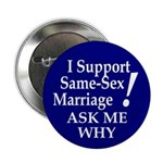 Same-Sex Marriage Buttons (10 pack)