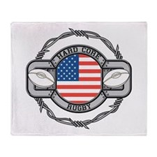 USA Hard Core Rugby Throw Blanket