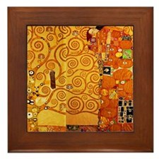 Gustav Klimt Tree of Life Art Nouveau Framed Tile