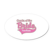 Cousin of the Bride Oval Car Magnet
