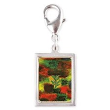 Klee - Little Tree amid Shru Silver Portrait Charm