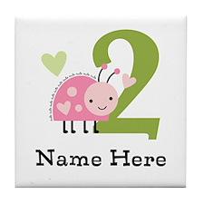 Ladybug (2) Tile Coaster