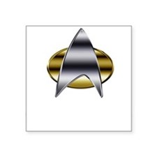 "Cute Starfleet Square Sticker 3"" x 3"""