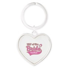 BFF of the Bride Heart Keychain
