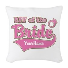 BFF of the Bride Woven Throw Pillow
