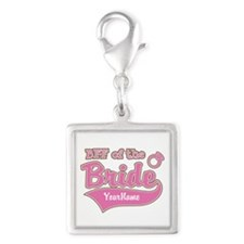 BFF of the Bride Silver Square Charm
