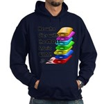 He who dies with the most fabric win Hoodie (dark)