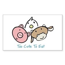 Too Cute To Eat Decal