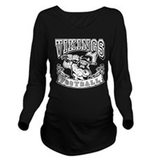 Vikings Football Long Sleeve Maternity T-Shirt