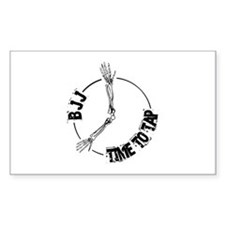 BJJ - Time to tap Rectangle Decal