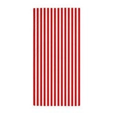 Red Vertical Stripes Beach Towel