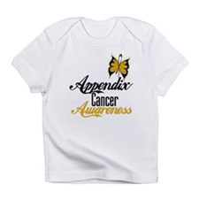 Appendix Cancer Awareness Butterfly Infant T-Shirt