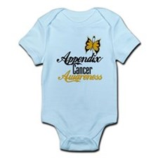 Appendix Cancer Awareness Butterfly Body Suit