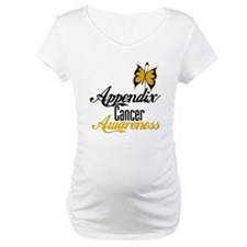 Appendix Cancer Awareness Butterfly Shirt