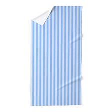 Faded Blue Stripes Beach Towel