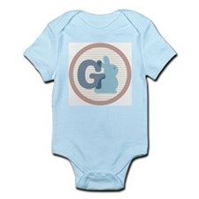 Letter G with cute bunny Body Suit