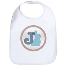 Letter J with cute bunny Bib