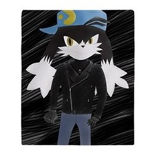 Klonoa with leather Jacket Throw Blanket