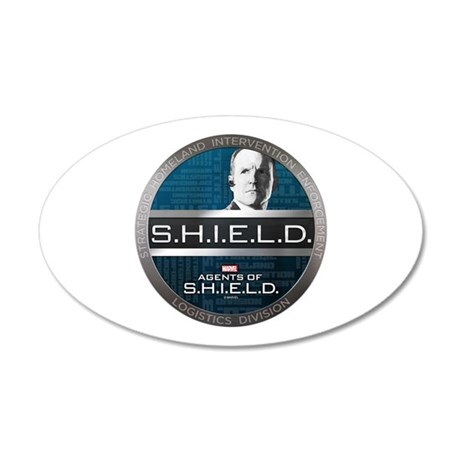 S.H.I.E.L.D. 20x12 Oval Wall Decal