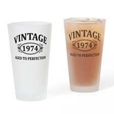 Vintage 1974 Aged to Perfection Drinking Glass
