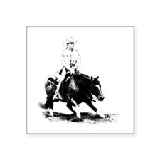 "Unique Quarter horse Square Sticker 3"" x 3"""