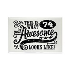 74th Birthday Rectangle Magnet
