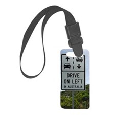 Drive on Left in Australia Highw Luggage Tag