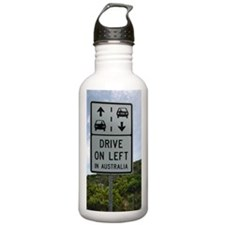 Drive on Left in Austr Water Bottle