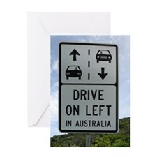 Drive on Left in Australia Highway R Greeting Card