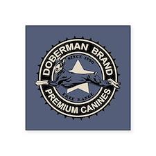 "Doberman Brand Square Sticker 3"" x 3"""