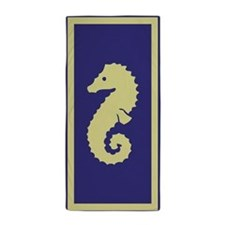 Purple Sea Horse Beach Towel