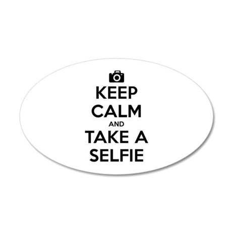 Keep Calm and Take a Selfie 22x14 Oval Wall Peel
