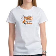 Leukemia Heaven Needed Hero Tee