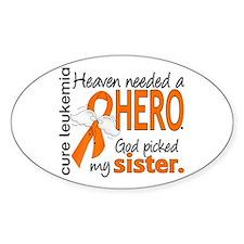 Leukemia Heaven Needed Hero Decal