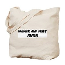 Burger And Fries Tote Bag