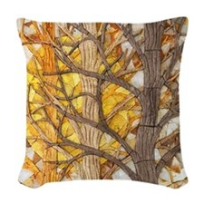 Sun Trees Woven Throw Pillow