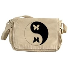 Yin Yang Butterfly Symbol Messenger Bag