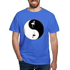 Yin Yang Flamingo Symbol T-Shirt