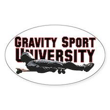 Gravity Sport University Oval Decal