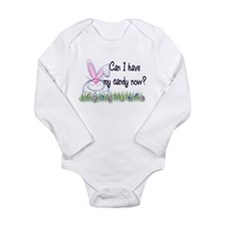 Funny Cute bunny Long Sleeve Infant Bodysuit