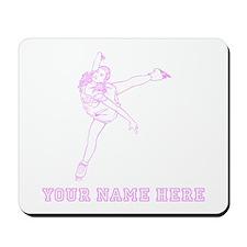 Custom Pink Figure Skater Mousepad