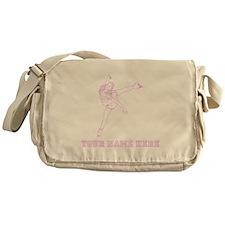 Custom Pink Figure Skater Messenger Bag