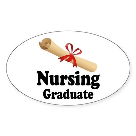 Nursing Graduate Sticker (Oval)