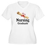 Nursing Graduate Women's Plus Size V-Neck T-Shirt